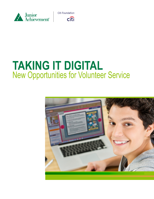 Taking it Digital: New Opportunities for Volunteer Service