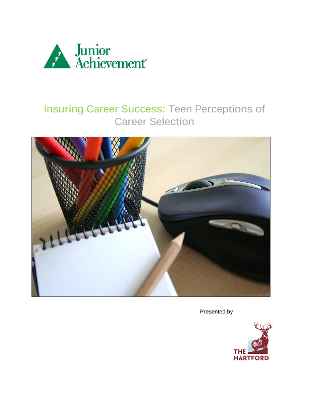Insuring Career Success: Teen Perceptions of Career Selection
